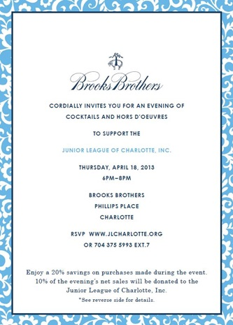 Brooks Brothers Invite